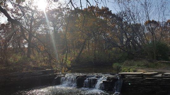 Darien, IL: WATERFALL at Glen Forest Preserve