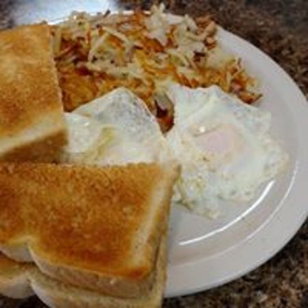 Sparta, WI: Eggs, hashbrowns, toast