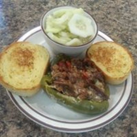 Sparta, WI: Philly cheesesteak stuffed pepper