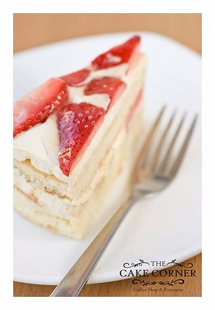 The Cake Corner Patisserie Strawberry Gateau