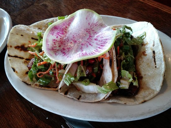 Amy's On The Bay: BBQ pork belly tacos