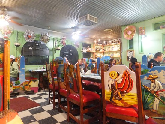 Colorful interior of the restaurant