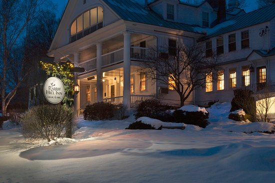 Romantic winter getaway at Rabbit Hill Inn in Vermont. Perfect adult vacation destination.