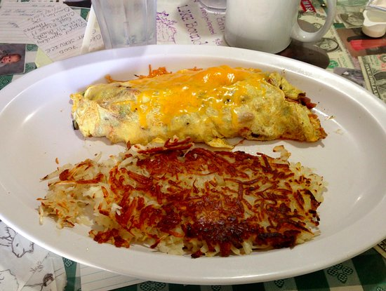 Manteca, CA: half size omelet with home fries