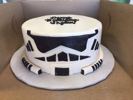 Marvelous Stormtrooper Cake Actual Picture Of Carolina Cupcakery Personalised Birthday Cards Paralily Jamesorg