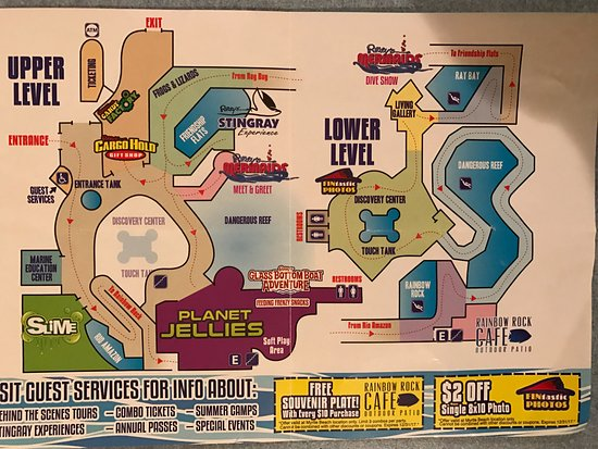 Ripleys Aquarium Brochure Map