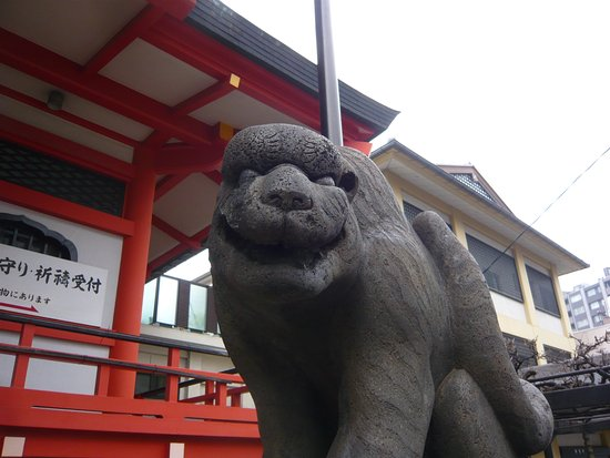 Zenkokuji Temple: One of the Tger Statue