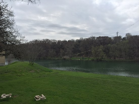Ingram, TX : Beautiful Guadalupe River as seen from the back deck of Encore