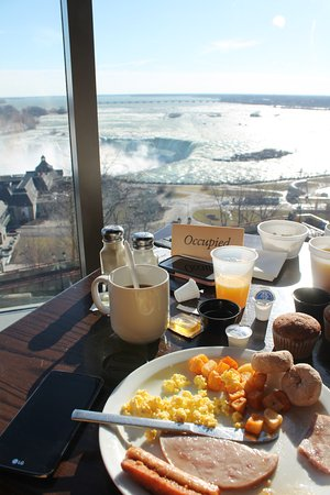 Emby Suites By Hilton Niagara Falls Fallsview Hotel View From Breakfast Restaurant