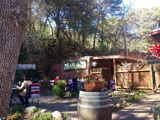 Indian Gardens Oak Creek Market: Patio area of IG, and inside.