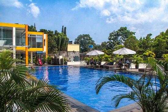 Grha Ciumbuleuit Guest House: Outside Pool Area yang Luas (Mini Olympic Pool)