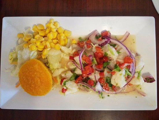 Ceviche Hut: Fish ceviche (small portion)