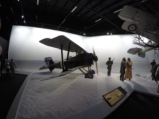 Omaka Aviation Heritage Centre: One of the many realistic montages