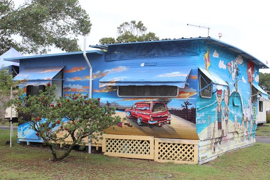 Reflections Holiday Parks Evans Head: One of the interesting permanent holiday caravans