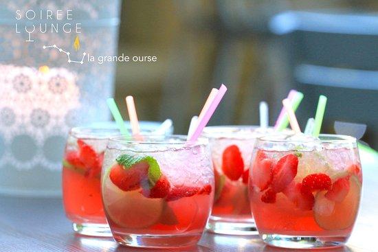 Mauvezin, Frankrig: Mojito aux fraises