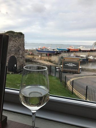 Beautiful view of the harbour from the bar area.
