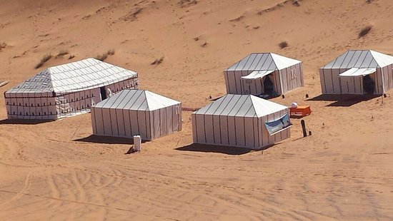 Merzouga Dunes Luxury Camps: Camp luxury in Sahara Desert by day