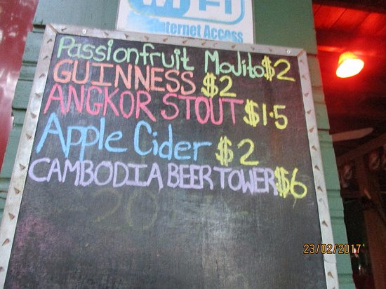 The Hangout: choice of drinks