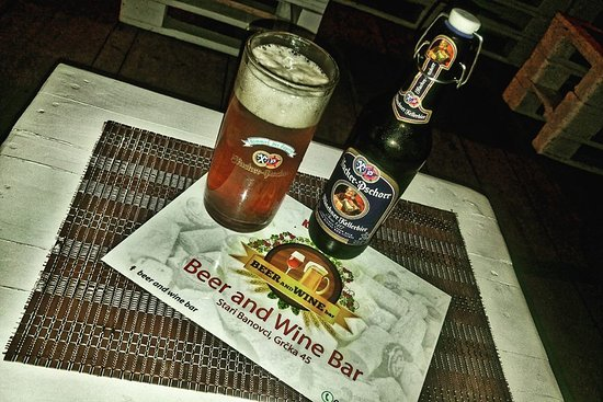 Beer and Wine Bar: Hacker Pschorr - klasicno ne filtirano pivo delikatnog ukusa...