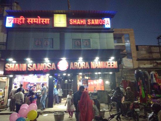 Shahi Samosa: Phot of shop in night