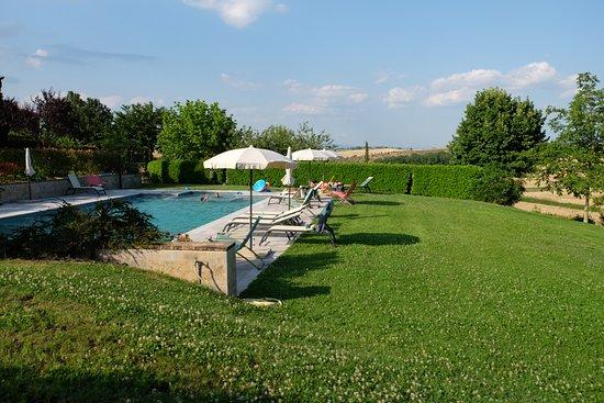 San Rocco a Pilli, Italia: piscina in giardino