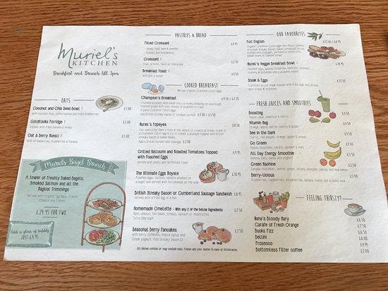 Muriel's Kitchen - South Kensington: Menu