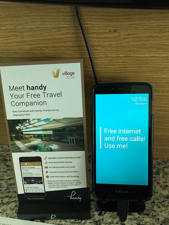 Village Hotel Changi by Far East Hospitality: smartphone in each rooms