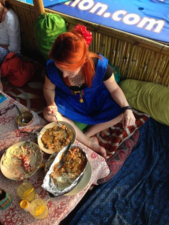 Ganga Beach Restaurant: Eating more than I can...