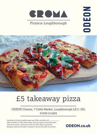 Croma Gourmet Pizzeria: Take a Pizza into the cinema or home for just £5