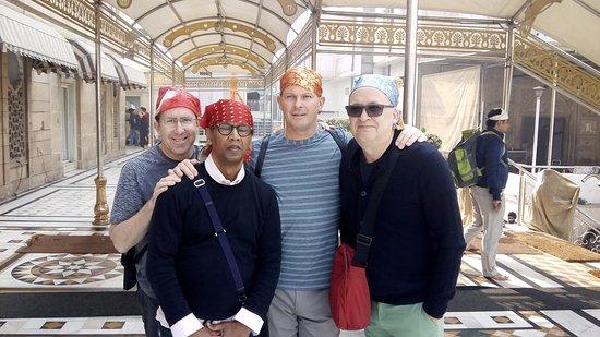 Guava Trips: Graham with his friends at Gurudwara Sis Ganj