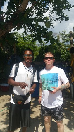 Negril Adventure Divers: Rick and captain Andre