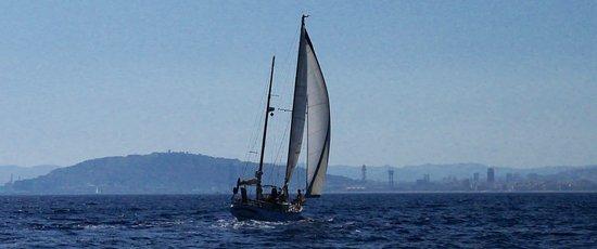 Sailing Barcelona: vessel sailing next to us