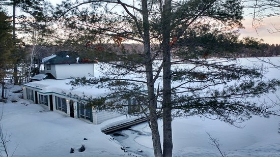 Port Carling, Canada: View of Boathouse from our room