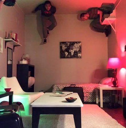 Bloomsburg, Pensilvania: Upside-Down Room