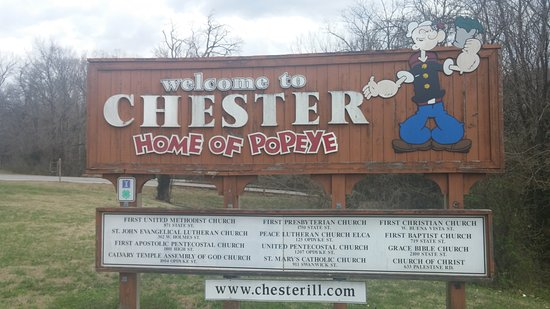 Chester, IL: Sign