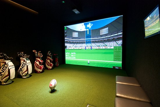 Crawley, UK: Rugby simulator