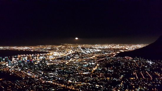Night Lights Of Cape Town On Way Down Picture Of Lion 39 S