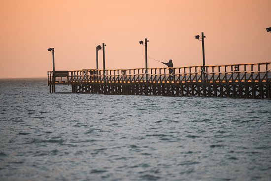 Laguna Reef Condominiums: Early morning fishing