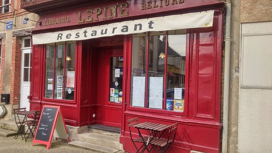 """Gace, Fransa: entrée """"librairie Lépine"""""""