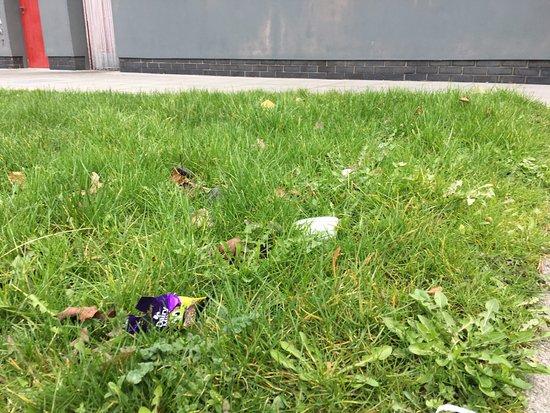 Jordanstown Loughshore Caravan Park: wrappers and general rubbish