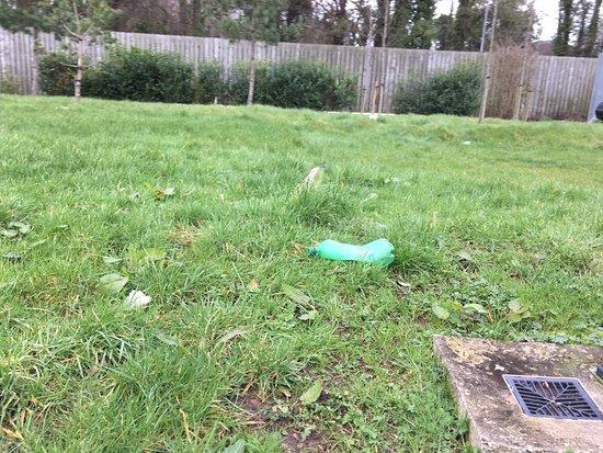 Jordanstown Loughshore Caravan Park: Plastic bottle left lying for nearly 4 weeks