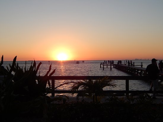 Ruskin, FL: view of the sunset across Tampa Bay