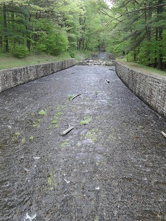 Fort Loudon, Pensilvania: Lake water runs off into the stream!