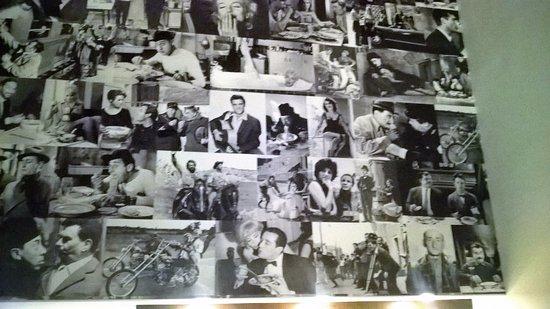 Pareti Con Foto In Bianco E Nero : Parete d ingresso arredata con foto in bianco e nero di film d