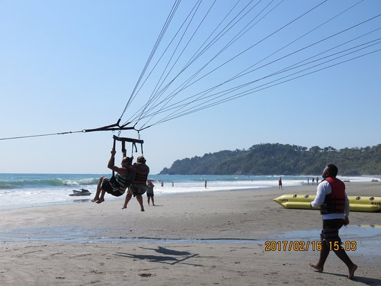 Aguas Azules Parasailing & Watersports Tours: Up we go