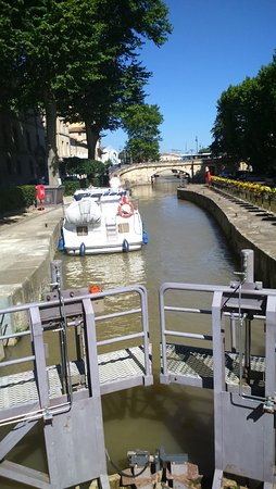 Limoux, Frankrijk: Lock on canal, Narbonne