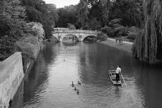 Scudamore's Punting Company: Punters between Clare College and Garret Hostel Lane.