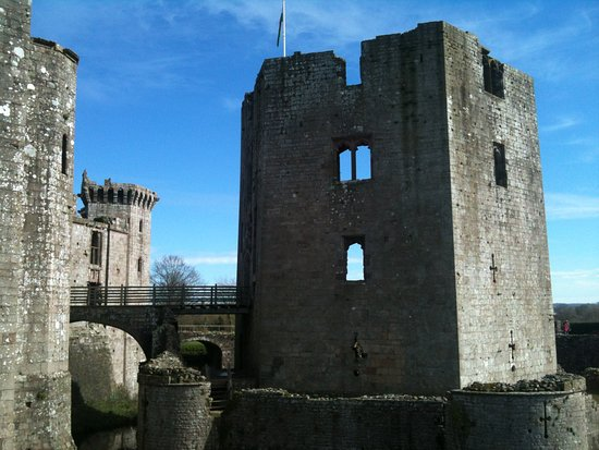 Raglan, UK: The outer tower.