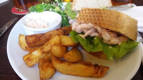 Otley, UK: Lovely prawn sandwich (slightly eaten!!)