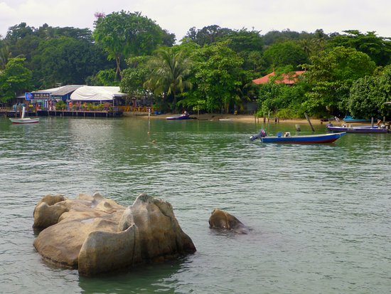 Pulau Ubin, Singapur: Chek Jawa village from the jetty
